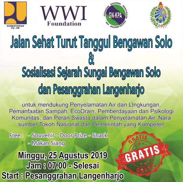 Mari Hadiri Jalan Sehat Turut Tanggul Bengawan Solo & Sosialisasi Sejarah Sungai Bengawan Solo dan Pesanggrahan Langenharjo